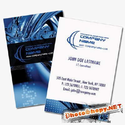 Computer Business Cards Psd for Photoshop