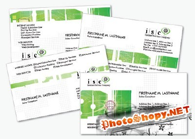 Computer Business Cards 2 Psd for Photoshop