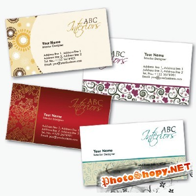 Interior Design Business Cards Psd for Photoshop