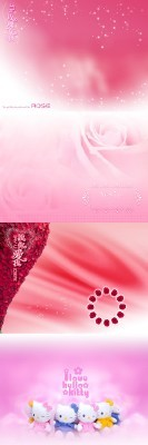 Delicate Pink and Bright Backgrounds for Photoshop