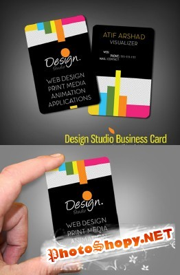 Design Studio Business Card for Photoshop