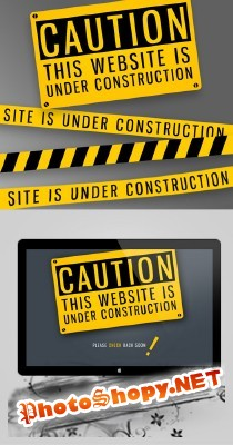 Under Construction Psd Template for Photoshop