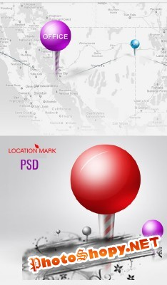 Location Mark Psd for Photoshop