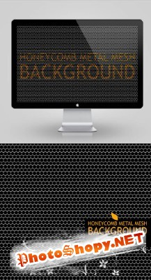 Honeycomb Metal Mesh Background Psd for Photoshop
