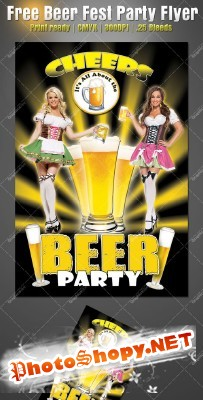 Beer Fest Party Flyer Template for Photoshop