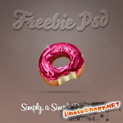 Doughnut Psd File for Photoshop