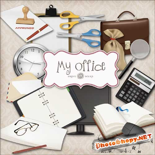 Скрап-набор - Мой офис. Scrap - My office