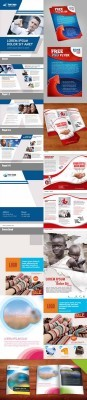 PSD Retail Marketing Postcard, Fold Brochure and Booklet Template for Photoshop