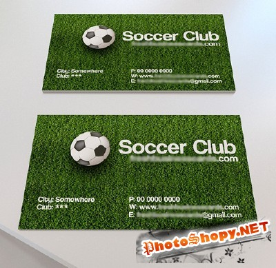 Soccer Business Card for Photoshop