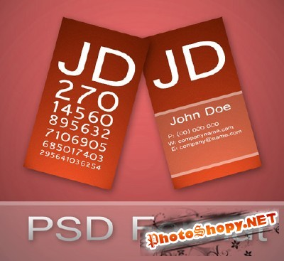 Ophthalmologist Business Card for Photoshop