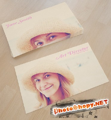 Photo Business Card Template for Photoshop
