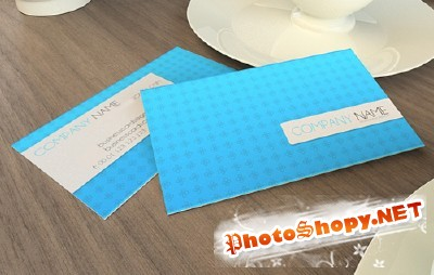 Blue Psd Business Cards for Photoshop