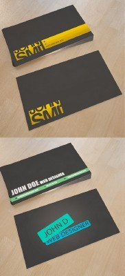 Web Design Business Cards For Photoshop