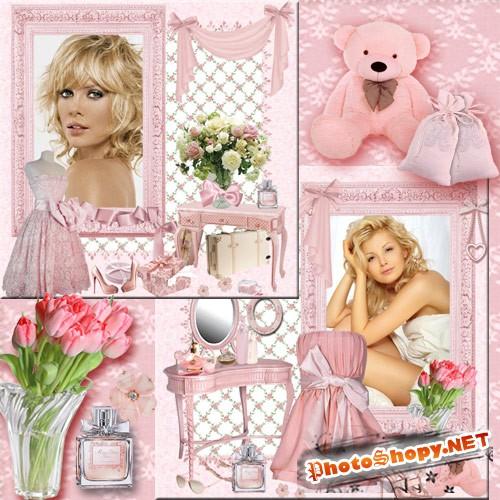 Гламурная рамка для фото - Розовый будуар