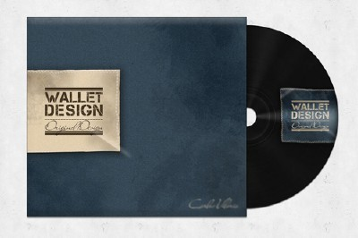Wallet CD Mockup Psd Template For Photoshop
