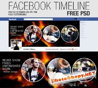 Facebook Timeline Cover Psd Template For Photoshop