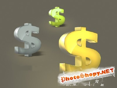 Dollar Psd File for Photoshop