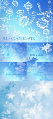Aquarelle Flowers Brushes Pack for Photoshop