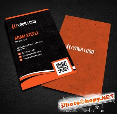 Rounded Corner Business Card Design for Photoshop