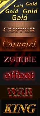 Collection of Text Effect for Photoshop Pack 3
