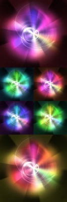Psd Backgrounds for Photoshop - Circle of explosion
