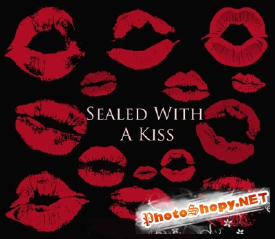 Sealed With A Kiss Brushes Set for Photoshop