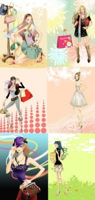 Collection Lovely Psd Girl Source Pack 3 for Photoshop