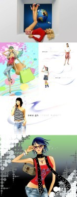 Collection Lovely Psd Girl Source Pack 5 for Photoshop
