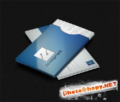 Blue Business Card for Photoshop