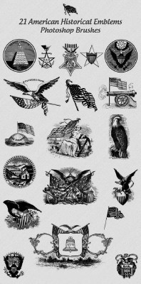 American Emblems Brushes Set for Photoshop