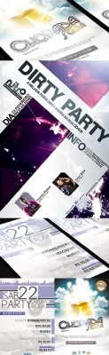 Flyer Party Templates Pack for Photoshop