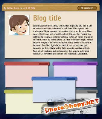 Web Page Side Box for Photoshop