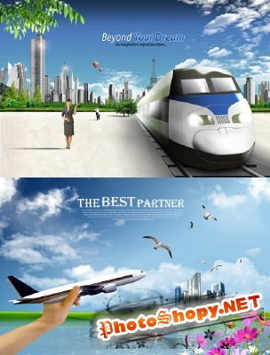Sources - The road to a happy future on the train and plane