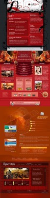 Red Web Template pack 5 for Photoshop