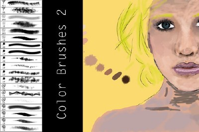 Color Brushes 2 Set for Photoshop