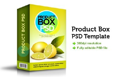 Product Box Psd Template for Photoshop