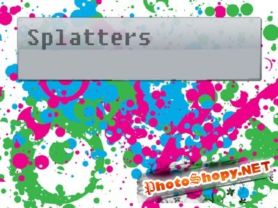 Splatter Brushes Set for Photoshop