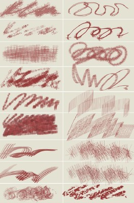 Chaotic Painting Brushes for Photoshop