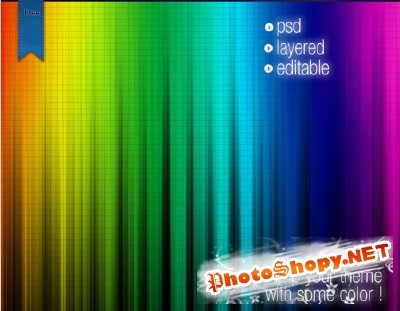 Quality multi color web background for Photoshop
