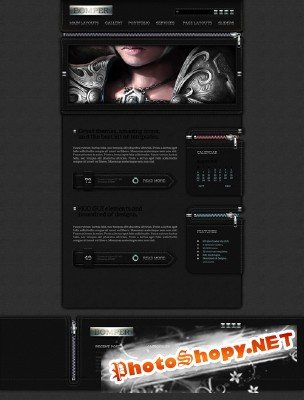 Bumper Fashion Web Template PSD for Photoshop