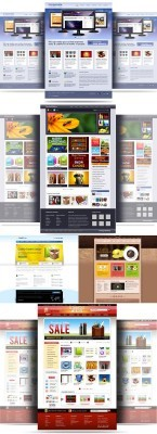 Corporate Website Template Pack for Photoshop
