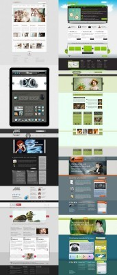 Web Templates Psd Pack 5 For Photoshop