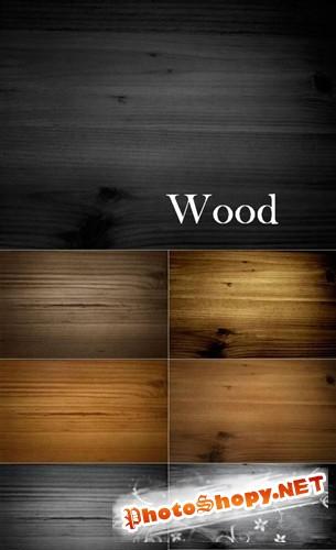 Коллекция древесных текстур коричневого и серого оттенков