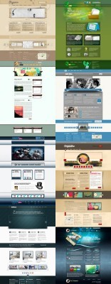 Web Templates Psd Pack 6 For Photoshop