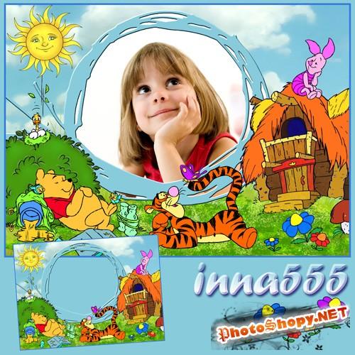 Детская рамка - Сладкий сон обжоры Винни
