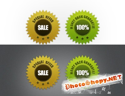 Guarantee Seals Stickers for Photoshop