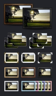 21 Photo Frames pack PSD Template for Photoshop