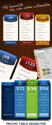 Pricing Boxes PSD Template for Photoshop