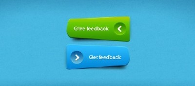 Unique Green and Blue Buttons for Photoshop