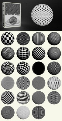 Patterned Spheres Pack 23  Brushes for Photoshop